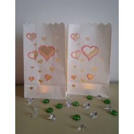 Papirnata lanterna srca rozi rub